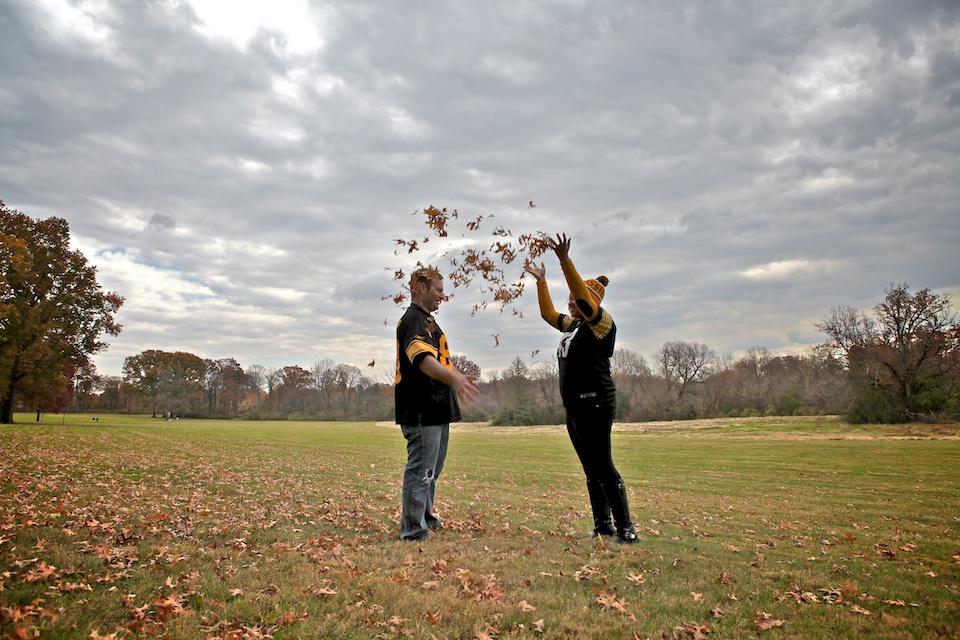 Brittany and David at Trexler Park