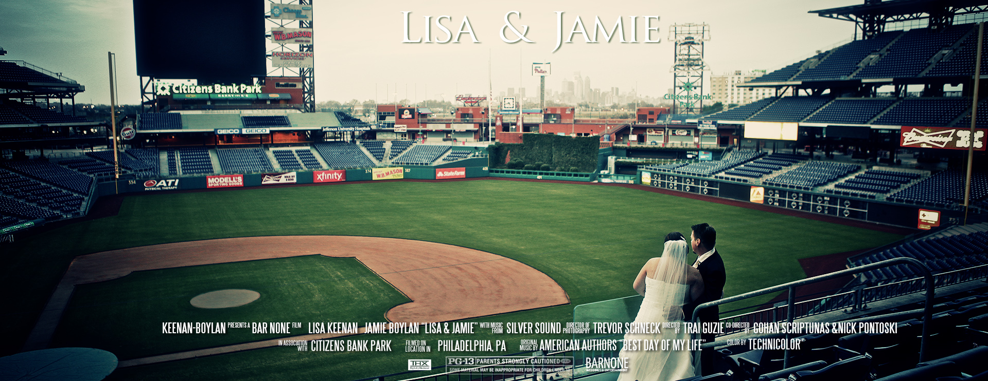 Lisa & Jamie – Citizens Bank Park – Phillies Wedding Film